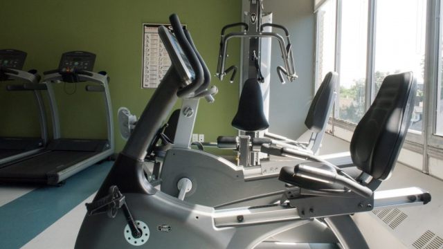 Equipment in the workout gym