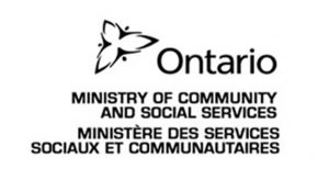 Ministry of Community and Social Services Ontario logo